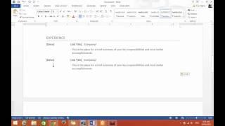 Word 2013 - Hướng Dẫn Cách Viết Resume, CV Hay Hồ Sơ Để Xin Việc