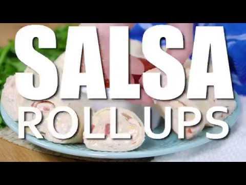 How to make: Tortilla Cheese & Salsa Rollups