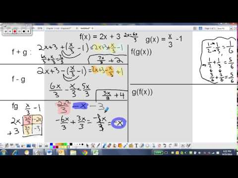 composite functions with fractions