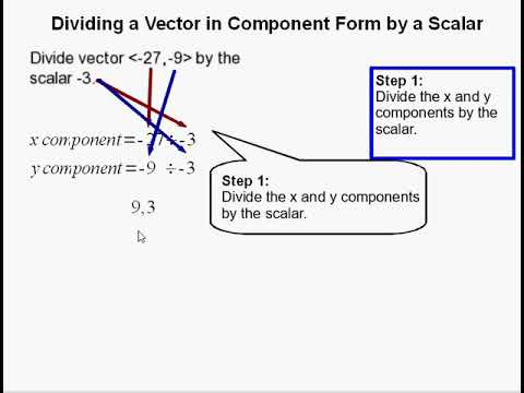 How to Divide a Vector in Component Form by a Scalar
