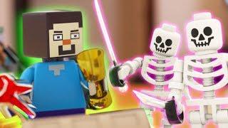 Lego Meets Minecraft 11 - Skeleton Attack!!! Lego Wars Movie (minecraft Animation)