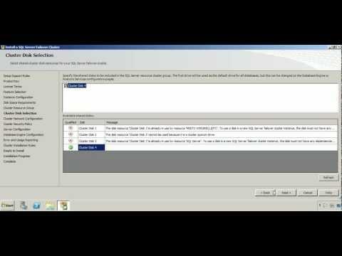 MS SQL Server 2008 Cluster Setup on Windows Server 2008 R2