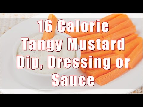 16 Calorie Tangy, Spicy Mustard Dip, Dressing or Sauce (Home Cookiing 101) DiTuro Productions