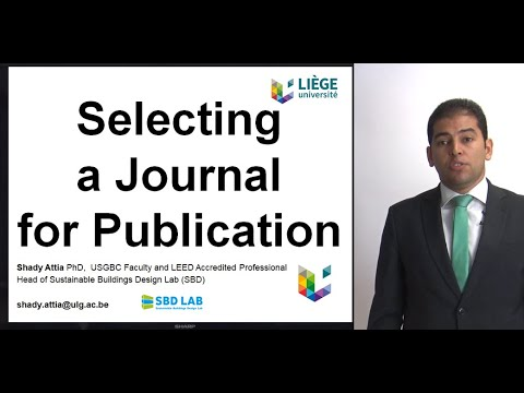 Selecting a journal for a publication