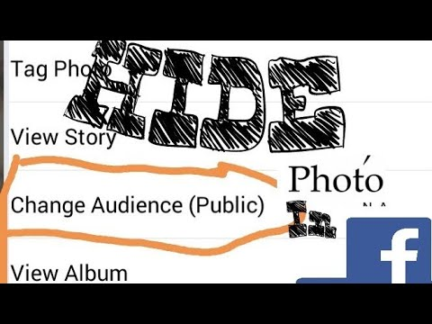 How to hide our photos on Facebook 100%working trick 2018.