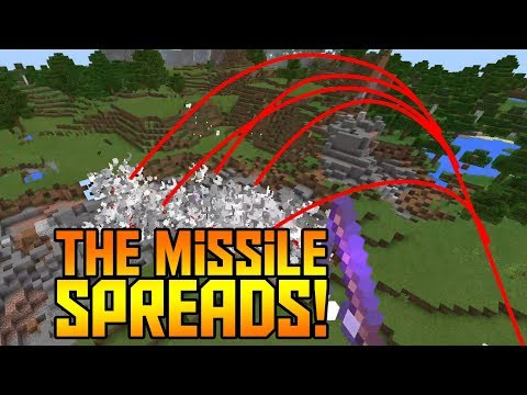 ADVANCED MISSILE with Command Blocks in Minecraft PE