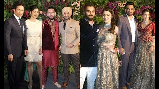 Indian Cricketers With Wife At Virat Kohli And Anushka Sharma