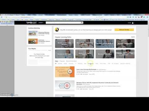 Lynda.com via OPL