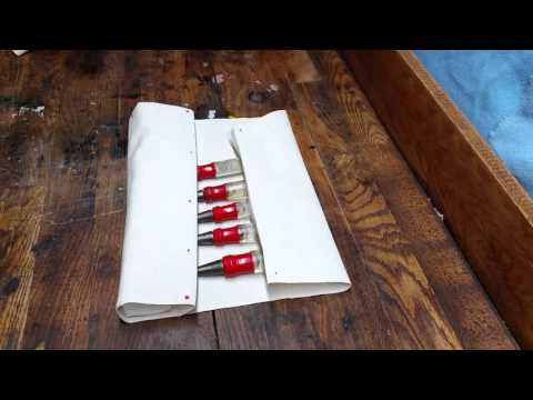 HOW TO MAKE A NO-SEW CANVAS TOOL ROLL: Quick, Cheap and DIY