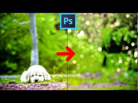 how to make bokeh background in photoshop