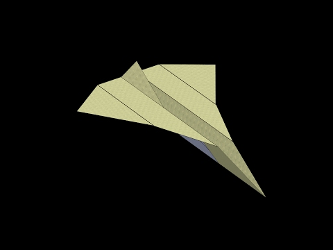 Bottlenose Paper Airplane: 3D Folding