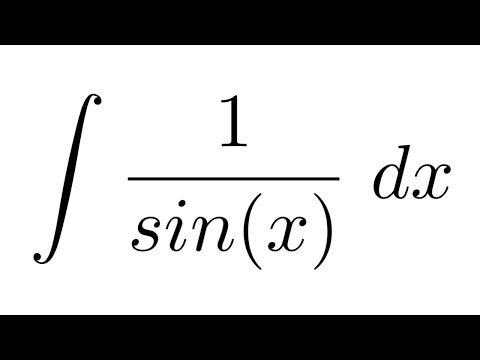 (Method 1) Integral of 1/sin(x) (substitution + trigonometric identities + substitution)