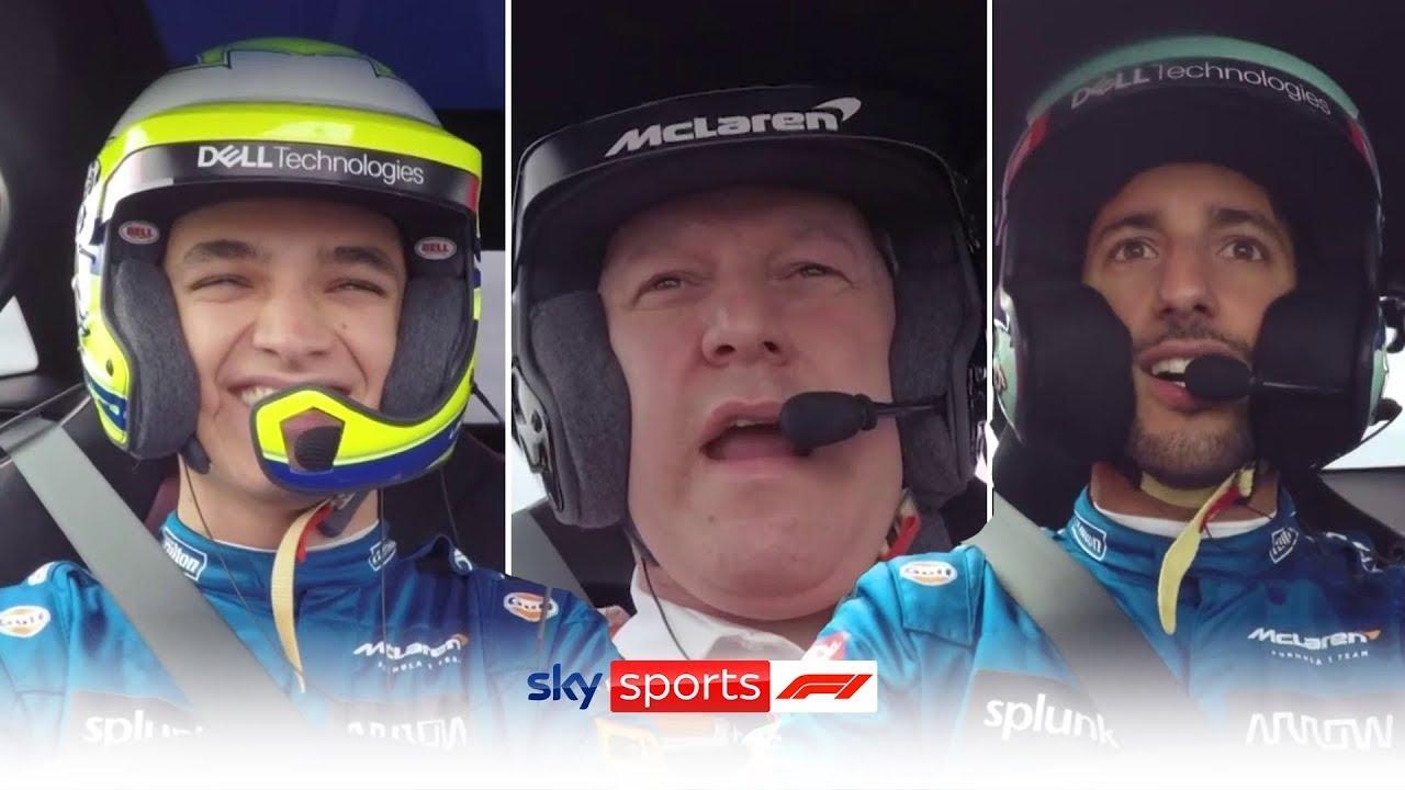 MUST WATCH! Norris and Ricciardo race Zak Brown around Silverstone! 🏎️
