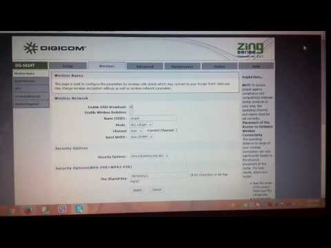 Digicom router how to change wifi password ?