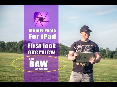 Affinity Photo for iPad. Edit RAW Pictures Anywhere! iPad app overview.