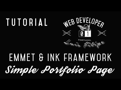 Tutorial Emmet - Building a portfolio page using INK framework