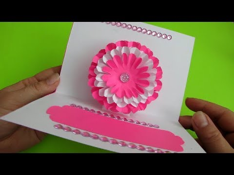 DIY Flower Pop up Card-Paper Crafts-Handmade Craft. День матери