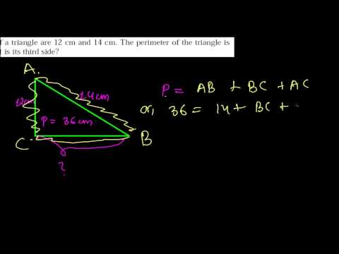 How to Find Third Side of a Triangle - Perimeter Word Problems- Area & Perimeter 9