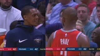Chris Paul Exchanges Words with Rajon Rondo!