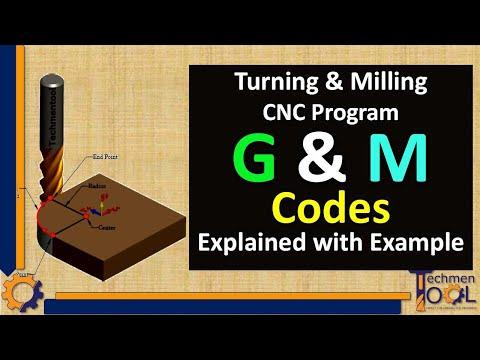 Techmentool: CNC Programming- Part 2 (Turning & Milling- G code/M code)