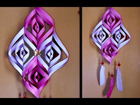 3D Wall Hanging Home Decoration Idea | Paper Flowers Wall Hanging | DIY Wall Hanging