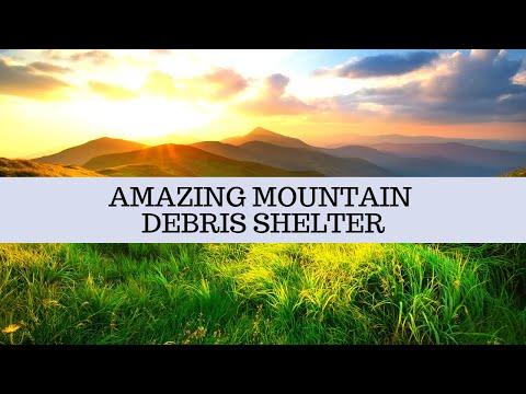 AMAZING Mountain Debris Shelter...MUST WATCH!!! Paleo Tracks Survival