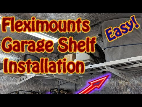 Fleximounts Garage Storage Wall Shelf Installation - Garage Storage Corner Rack Floating Shelves