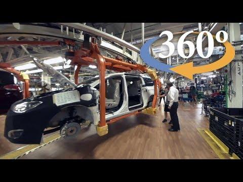 Inside auto manufacturer FCA Canada (360 Video)