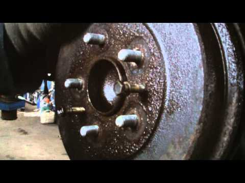 FORD FOCUS REAR BRAKE DRUM REMOVAL