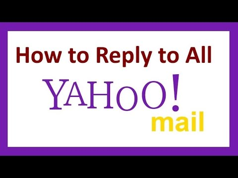 How to reply all yahoo mail