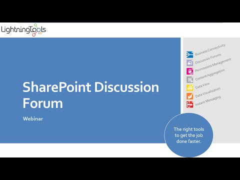 SharePoint Discussion Forum Tool
