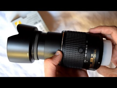 Nikon HB-34 Lens Hood for NIKKOR 55-200mm   Unboxing   How to Attach and Detach