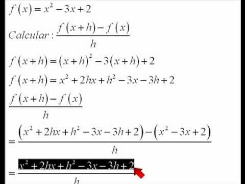 funcion de segundo grado con x mas h