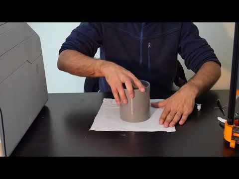 3D printed PVC pipe cinema lamp