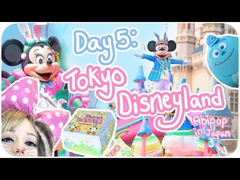 CUTE DISNEY FOOD & INSANE RIDES!??♪ | Day 5 - Tokyo Disneyland ºoº | Abipop in Japan 3 - 2017 ♡