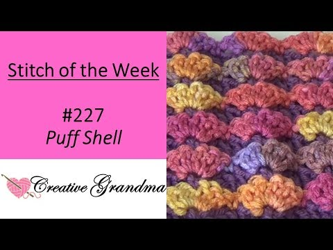 Stitch of the Week #227 Puff Stitch - Free Pattern at the end of video