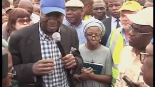 Minister of Power, Works and Housing Inspects Benin Road Project