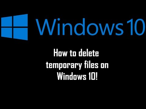 How to delete temporary files on Windows 10 2015!