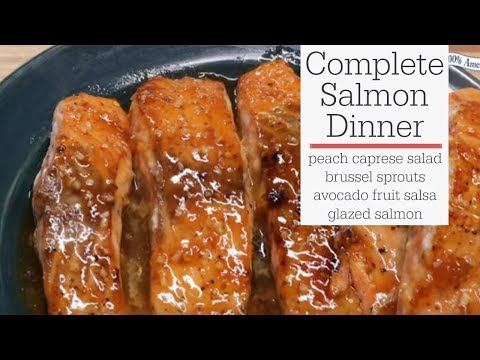 Sweet and Spicy Complete Salmon Dinner - RadaCutlery.com