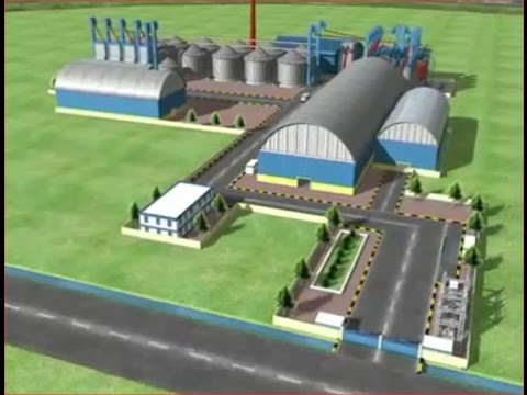 Animation Paddy processing plant(Auto Rice Mill)