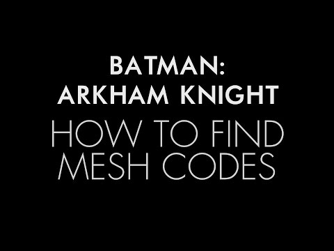 Batman: Arkham Knight - How to find mesh swap codes