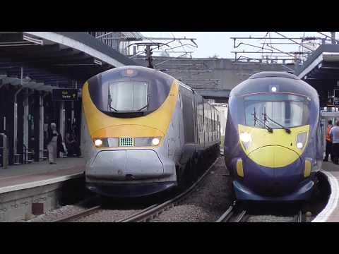 Trains at Ashford International 05/07/17
