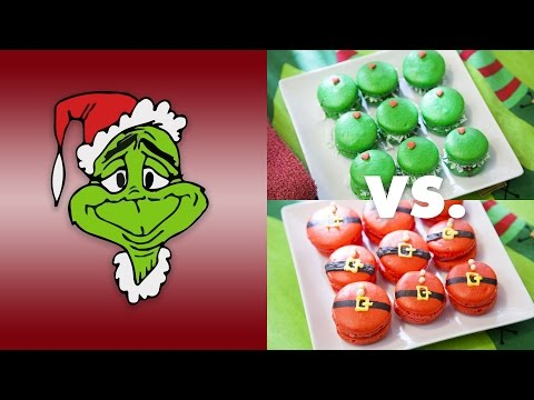THE GRINCH'S MACARONS (POMEGRANATE JAM WITH COCONUT)