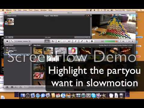 How to make a part of a clip turn to slowmotion for imovie