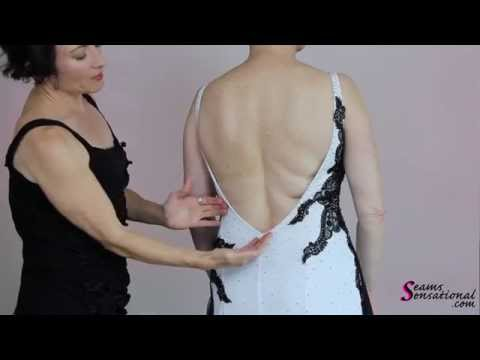 Altering a Standard Gown for a More Appealing Back Line