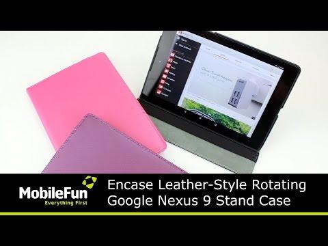 Encase Leather-Style Rotating Google Nexus 9 Case