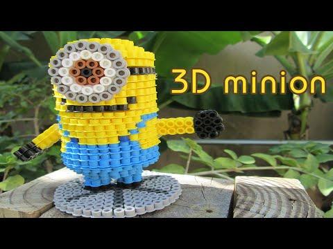 DIY: 3D Minion | Bead Sprites (Perler/Hama Beads)