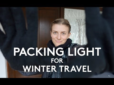 HOW TO PACK LIGHT FOR WINTER TRAVEL | MINIMALIST PACKING
