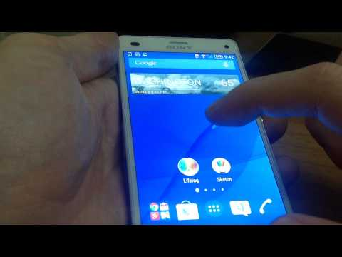 Select background and themes on Sony Xperia Z3
