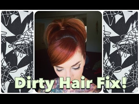 Dirty Vintage Hair Fix: 1960's Mad Men Inspired Bubble Look! CHERRY DOLLFACE